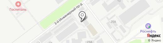 Волгатент на карте Ульяновска