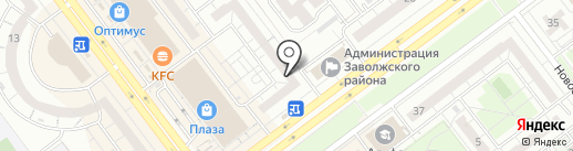 Корона на карте Ульяновска