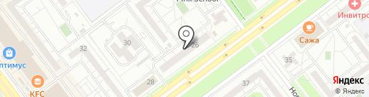 Сервис-принт на карте Ульяновска