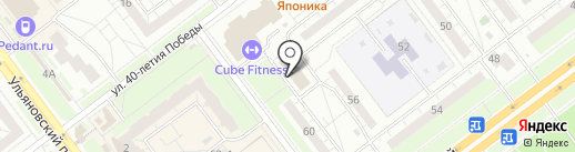 Вдохновенье на карте Ульяновска