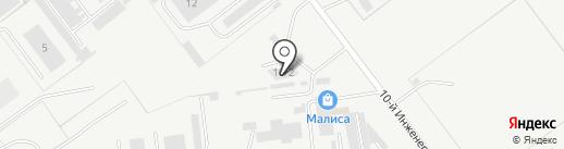 Корса на карте Ульяновска