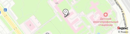 Городская клиническая больница №1 на карте Ульяновска