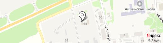 Компания по продаже и производству изделий из искусственного камня на карте Айши