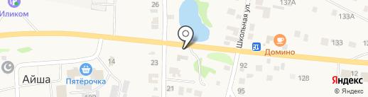Шиномонтажная мастерская на карте Айши