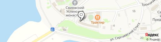 Почтовое отделение на карте Свияжска