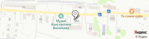 Васильевская художественная школа на карте Васильево