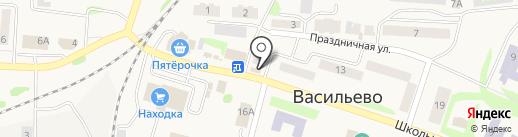 Магазин бытовой химии на Школьной на карте Васильево