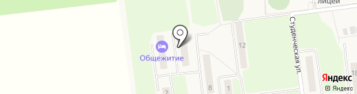 Общежитие на карте Октябрьского