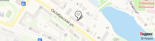 Продуктовый магазин на Октябрьской на карте Васильево