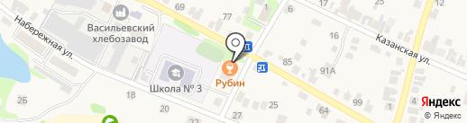 Рубин на карте Васильево
