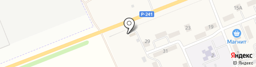 Магазин автомасел на карте Мирного