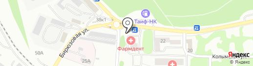Раифский источник на карте Казани
