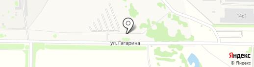 Автостоянка на ул. Гагарина на карте Осиново