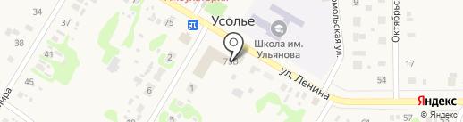 Продуктовый магазин на карте Усолья
