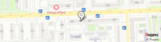 Прожектис на карте Казани