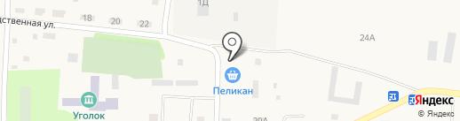 Пеликан на карте Луначарского