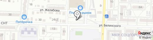 Взлётный на карте Казани