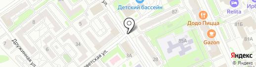 Магазин фруктов и овощей на карте Казани