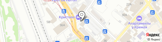 Казанский регион обслуживания на карте Казани