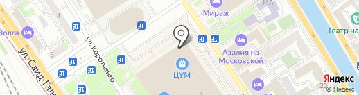 Пеплос на карте Казани