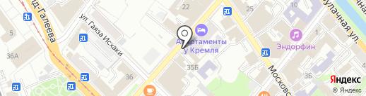 Полопринт на карте Казани