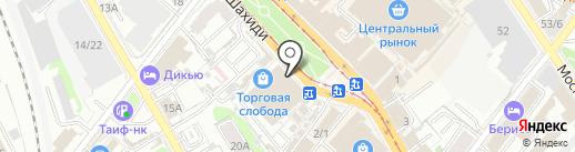 Кафе на карте Казани