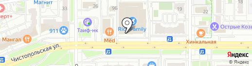 Парикмахерский магазин на карте Казани