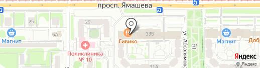 Пена на карте Казани