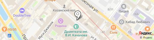 Ленточный лабиринт на карте Казани