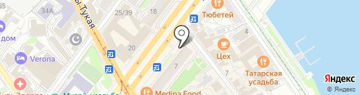 Булавочка на карте Казани