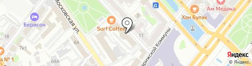 Академ на карте Казани