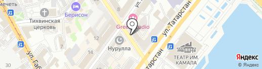 Богатырь на карте Казани