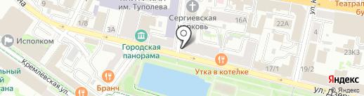 Волжские воды-К на карте Казани