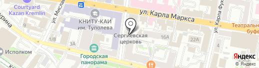 Церковь Сергия Радонежского при Ложкинской богадельне на карте Казани