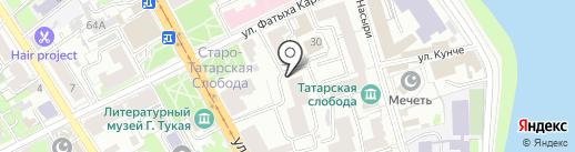Сююмбике на карте Казани