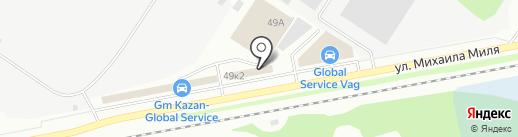 M Service на карте Казани