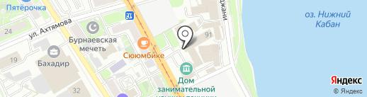 Ермак-Уфа на карте Казани