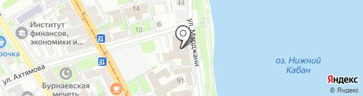 Седла на карте Казани