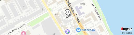 Фидан на карте Казани