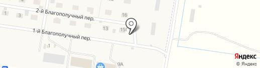 Загородный микрорайон на карте Ягодного
