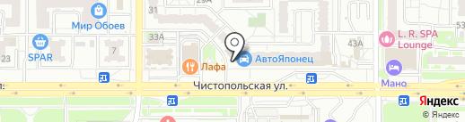 Радуга на карте Казани