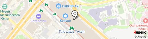 Spikes на карте Казани