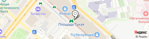 Культурный диван на карте Казани