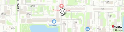 Киоск по продаже кондитерских изделий на карте Казани