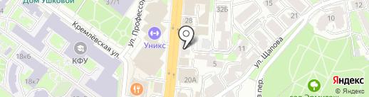 Автошкола, ВОА на карте Казани