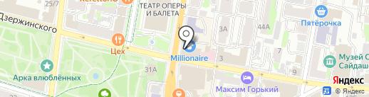 Пушкин на карте Казани