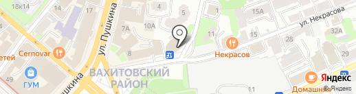 Восемь на карте Казани