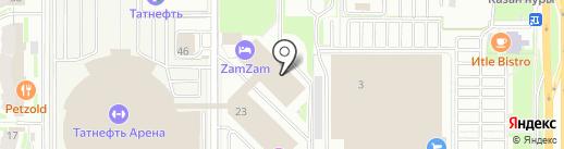 Капитан на карте Казани
