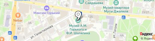 Алешкины лепешки на карте Казани