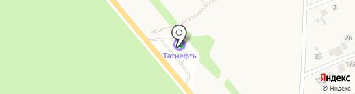 АЗС Татнефть-центр на карте Песчаных Ковалей